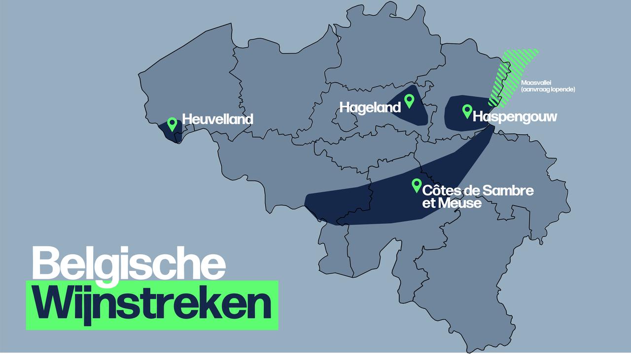 Belgische Wijnstreken (bron: VRT.be)